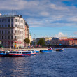 Stock Photo: Petersburg. FontankRiver in summer day