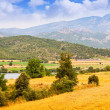 Stock Photo: Farms and fields in Lleida