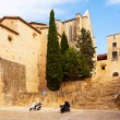 Street of medieval Girona — Stock Photo