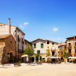 Old town square. Besalu — Stock Photo