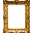 Classic gold frame over white — Stock Photo