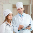 Stock Photo: Doctor and nurse in hospital