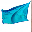 Waving blue flag — Stock Photo