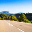 Asphalt road through mountains  — Stock Photo
