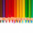 Stock Photo: Border from pencils