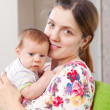 Portrait of  mother with  baby — Stock Photo
