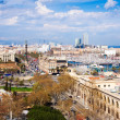 Barcelona citty from Montjuic — Stock fotografie