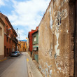 Old street in Catalan village — Stock Photo