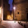 Old narrow street of european city. Girona — Stock Photo
