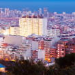 Residence district in Barcelona — Stock Photo