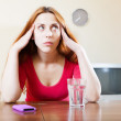 Sad woman having stress   — Stock Photo