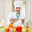 Positive caucasian male cook — Stock Photo #32309489