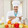 Positive caucasian male cook — Stock Photo #32309489