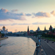 Moscow in sunset — Stock Photo