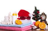 Jul och stranden tillbehör — Stockfoto