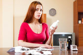 Woman with medications — Stock Photo