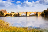 Stone bridge in Zaragoza — Stock Photo
