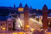 夕方にはバルセロナでスペイン広場 — ストック写真
