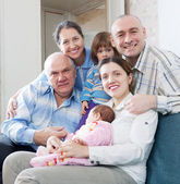 Three generations family at home — Stock Photo