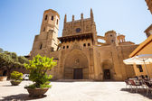 Huesca Cathedral in sunny day. Aragon — Stock Photo