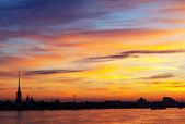 Dawn in Saint Petersburg, Russia — Stock Photo