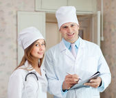 Doctor and nurse in hospital — Stock Photo
