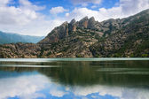 Landscape with mountains lake — Stock Photo