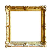 Gold picture frame. Isolated over white — Photo
