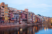 View of Girona in evening. Catalonia — Stock Photo