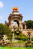 Cascada fountain in Barcelona in sunny day — Stock Photo