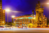 Evening view of Plaza de Espana — Стоковое фото