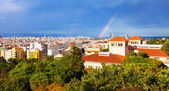 Barcelona from National Palace of Montjuic — Stock Photo