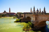 View from Ebro river — Stock Photo