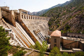 Hydro-electric power station on Segre — Stock Photo