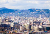 Historic district at Barcelona — Stock Photo