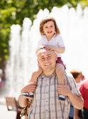Otec s holčička — Stock fotografie
