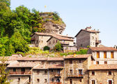 Houses of medieval Catalan village — Stock Photo
