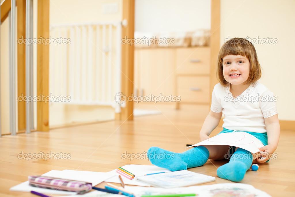 两年儿童素描纸上 — 图库照片08jim