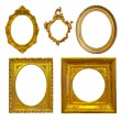 Set of few Luxury gilded frames — Stock Photo