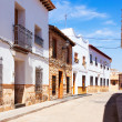 Ordinary street of spanish town. El Toboso — Stock Photo