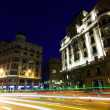 Wide angle shot of Via Laietana. Barcelona — Stock Photo