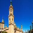 Cathedral of Our Lady of the Pillar. Zaragoza — Stock Photo