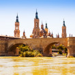 Zaragoza in sunny day — Stock Photo