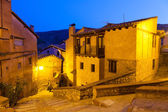 General view of Albarracin in evening — Stock Photo