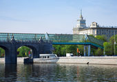 View of Moscow. Andreyevsky Bridge — Stock Photo