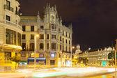 Gran via i natt. madrid — Stockfoto