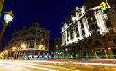 Vidvinkel bild på via laietana. barcelona — Stockfoto