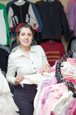 Buyer at clothing store — Foto de Stock