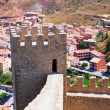 Ancient fortress wall in Albarracin  — Stock Photo
