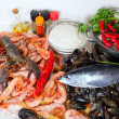 Uncooked  sea food specialties — Stock Photo